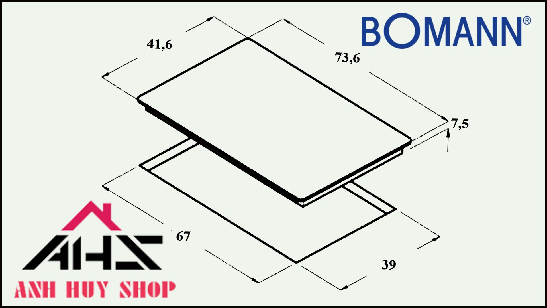 Thông số kỹ thuật bếp từ hồng ngoại Bomann EBK DT05